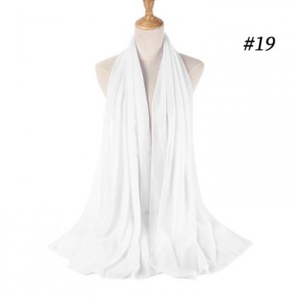 [LBH] <No. 1-20> Scarf Women Islam Muslim Fashion Headscarf 50 Colors Crinkle Hijab Cotton Shawl Muffler Kurung - TD01
