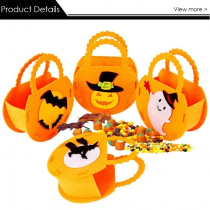 [Little B House]Halloween Non Woven Gift Bag Candy Bag Festival Party Child Gift Candy Bag Halloween Prop Bag 万圣节手提糖果袋无纺布-HW03