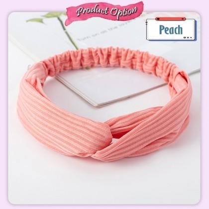 [Little B House]Korean Headdress Cross-Hair Bands Elastic Hairband Yoga Headband Wash Face Headband针织交叉弹力发带发箍-H57